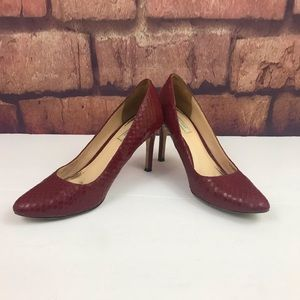 Cole Haan Bethany Grand OS Pumps Red Snakes 6B